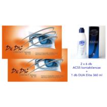 Drdio AC55 (2x6db) - kontaktlencse +1 db 360 ml DUA Elite + ingyenes szállítás