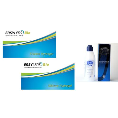 Easylens Bio (2x3db) szilikon-hidrogél kontaktlencse + 1 db 360 ml  DUA Elite ápolószer + ingyenes szállítás