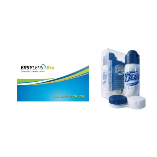 Easylens Bio (3db) - szilikon-hidrogél kontaktlencse + 1 db 60 ml Dua Elite ápolószer