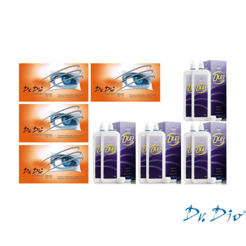 DrDio AC55 + Ápolószer (ÉVES ADAG - 24 db kontaktlencse + 4 db ápolószer)
