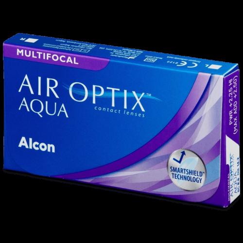Air Optix Aqua Multifocal (3db) - szilikon-hidrogél kontaktlencse