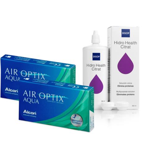 Air Optix Aqua (2x6 db) + Hidro Health Citrát