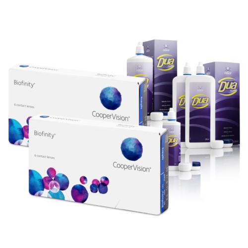 Biofinity (2x6 db) + 1db DUA Activa (500ml) + ingyenes szállítással