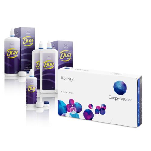 Biofinity (6db) + 1 db 500 ml DUA Activa ápolószer