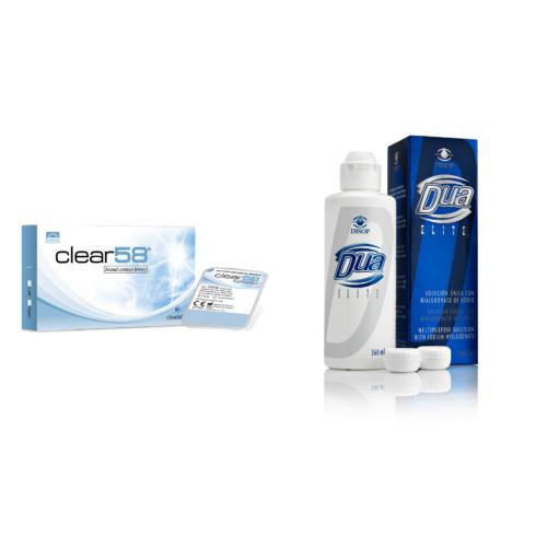 Clear 58 UV (6db) -  + 1 db 360ml DUA Elite ápolószer
